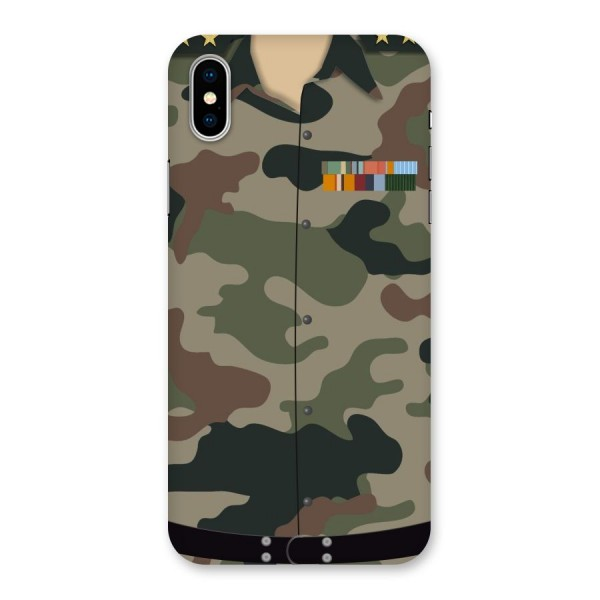 Army Uniform Back Case for iPhone X