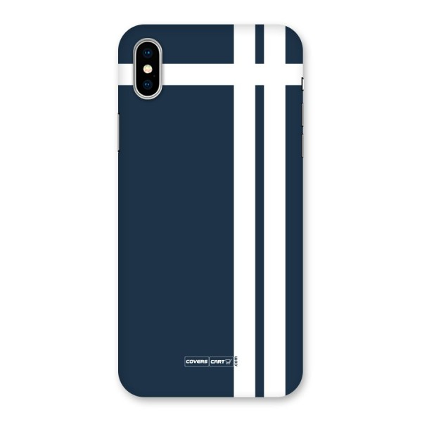 Blue and White Back Case for iPhone X