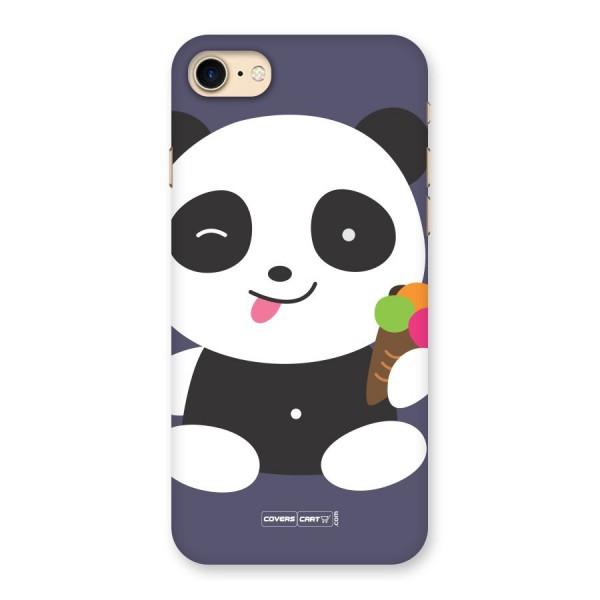 Cute Panda Blue Back Case for iPhone 7