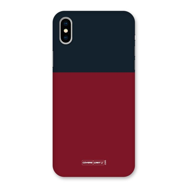 Maroon and Navy Blue Back Case for iPhone X