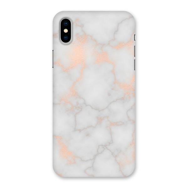 RoseGold Marble Back Case for iPhone X