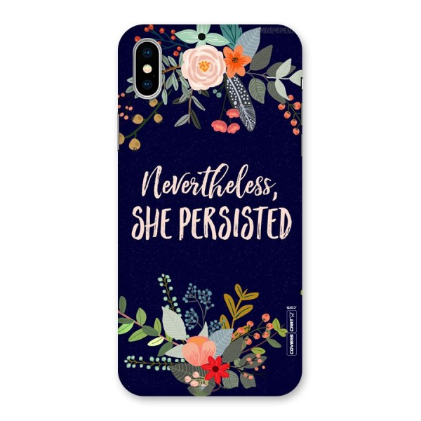 She Persisted Back Case for iPhone X
