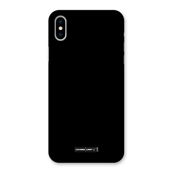 Simple Black Back Case for iPhone X