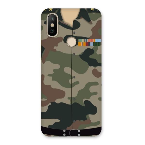 Army Uniform Back Case for Mi A2