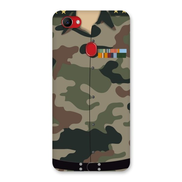 Army Uniform Back Case for Oppo F7