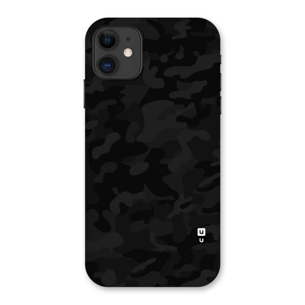 Black Camouflage Back Case for iPhone 11