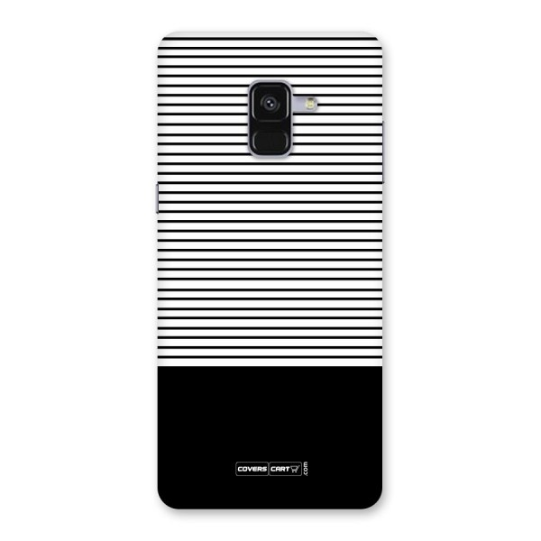 Classy Black Stripes Back Case for Galaxy A8 Plus