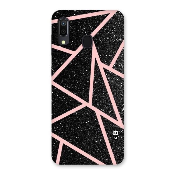 Concrete Black Pink Stripes Back Case for Galaxy A30
