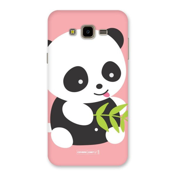 Cute Panda Pink Back Case for Galaxy J7 Nxt