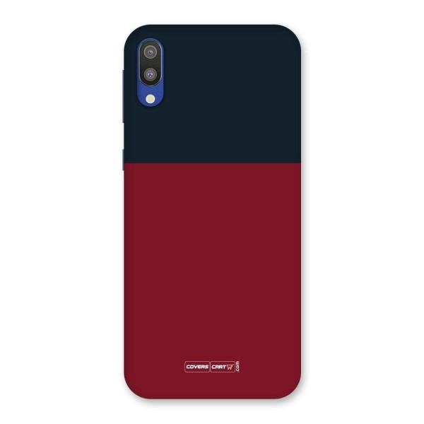 Maroon and Navy Blue Back Case for Galaxy M10