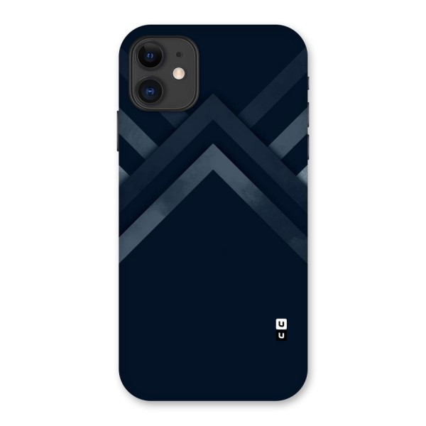 Navy Blue Arrow Back Case for iPhone 11