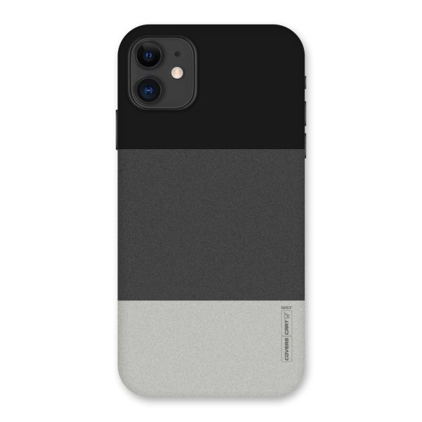 Pastel Black and Grey Back Case for iPhone 11