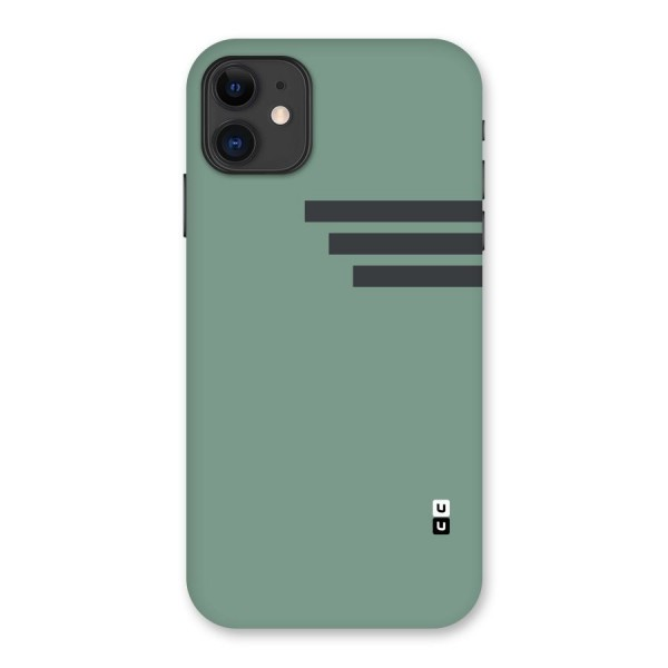 Solid Sports Stripe Back Case for iPhone 11