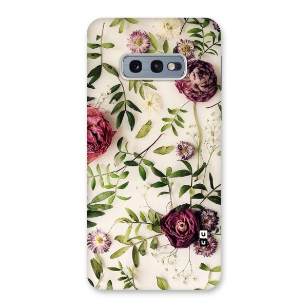 Vintage Rust Floral Back Case for Galaxy S10e