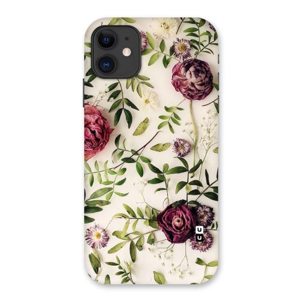 Vintage Rust Floral Back Case for iPhone 11