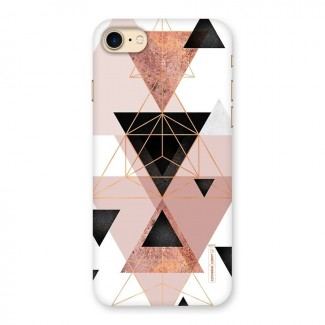 Abstract Rose Gold Triangles Back Case for iPhone 7