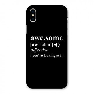 Awesome Looking at it Back Case for iPhone X