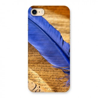 Beautiful Blue Feather Back Case for iPhone 7