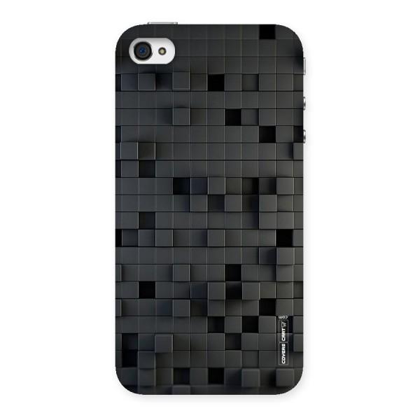 Black Bricks Back Case for iPhone 4 4s