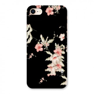 Black Floral Back Case for iPhone 8