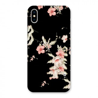 Black Floral Back Case for iPhone X