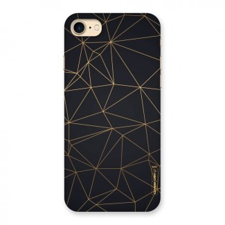 Black Golden Lines Back Case for iPhone 7