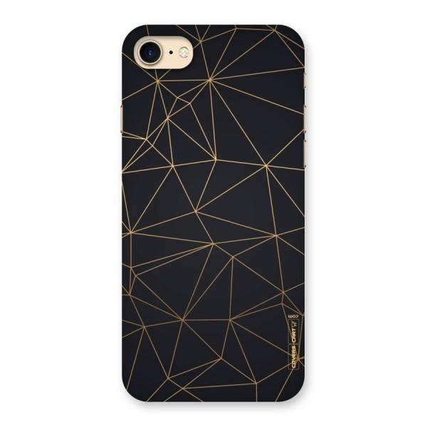 Black Golden Lines Back Case for iPhone 7