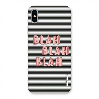 Blah Stripes Back Case for iPhone X