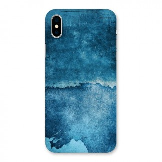 Blue Paint Wall Back Case for iPhone X