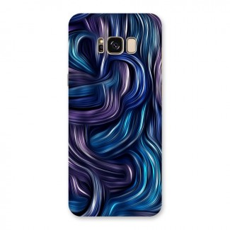 Blue and Purple Oil Paint Back Case for Galaxy S8 Plus