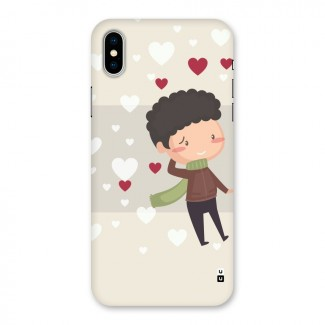 Boy in love Back Case for iPhone X