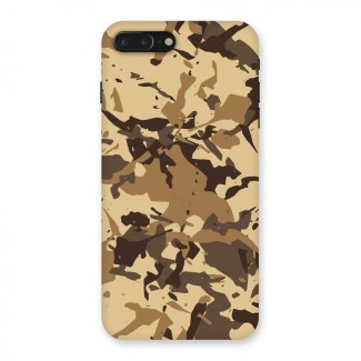 Brown Camouflage Army Back Case for iPhone 7 Plus