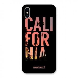California Back Case for iPhone X