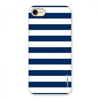 Classic Blue White Stripes Back Case for iPhone 7