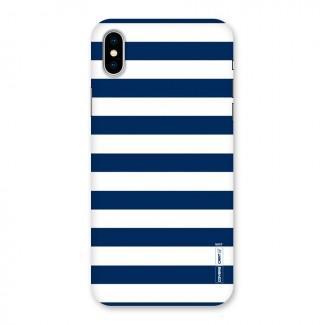 Classic Blue White Stripes Back Case for iPhone X