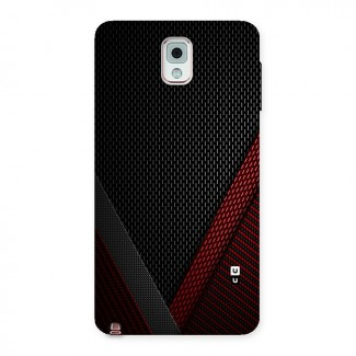 Classy Black Red Design Back Case for Galaxy Note 3