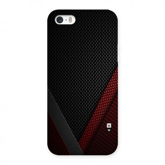 Classy Black Red Design Back Case for iPhone SE