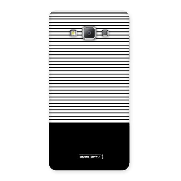 Classy Black Stripes Back Case for Galaxy A7