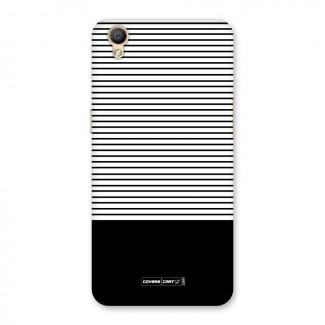 Classy Black Stripes Back Case for Oppo A37