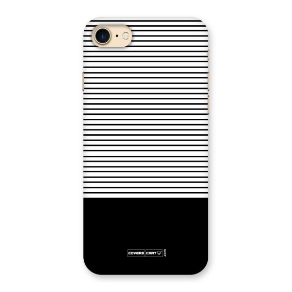 Classy Black Stripes Back Case for iPhone 7