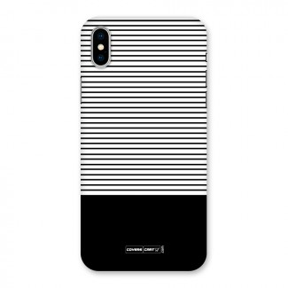 Classy Black Stripes Back Case for iPhone X