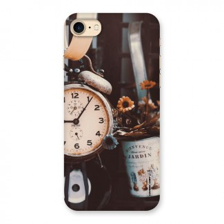 Clock And Flowers Back Case for iPhone 7