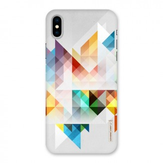 Colorful Geometric Art Back Case for iPhone X