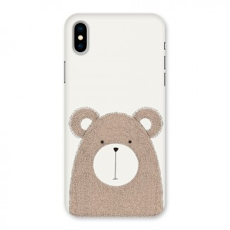 Cute Bear Back Case for iPhone X