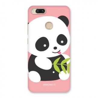 Cute Panda Pink Back Case for Mi A1