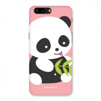 Cute Panda Pink Back Case for OnePlus 5