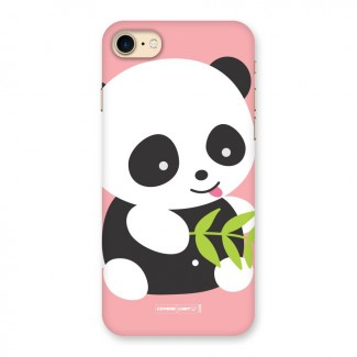 Cute Panda Pink Back Case for iPhone 7