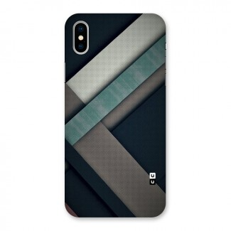 Dark Stripes Back Case for iPhone X