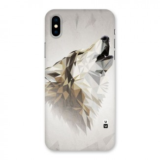 Diamond Wolf Back Case for iPhone X