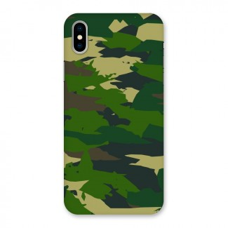 Green Camouflage Army Back Case for iPhone X